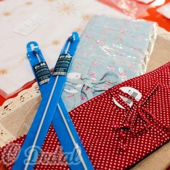 Estojo para agulhas de crochê - Tecido