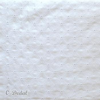 Tecido Branco/Padrão Flores